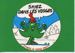Skiez Dans Les Vosges : Sympa Les Vosg'Patt (Signe Illustrateurs) Nos Vosges Sont Sympas & Belles N°88/533/30 La Cigogne - Non Classés