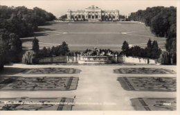 CPSM WIEN - SCHLOSS SCHONBRUNN BLUMENPARTERRE GEG. NEPTUNBRUNNEN U. GLORIETTE - Château De Schönbrunn