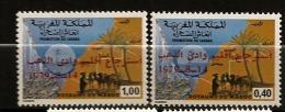 Maroc 1979 N° 839 / 40 ** Sahara, Agriculture, Céréale, Phare, Poissons, Pêche, Désert, Dromadaire, Chameau, Surchargé - Morocco (1956-...)