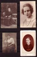 4 Anciennes Photos De Femmes (3). - Personnes Anonymes