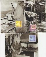 Liechtenstein 2001 Altes Handwerk 3v 3 Maximum Cards (18875) - Maximumkarten (MC)