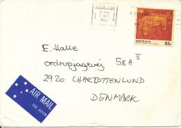 Australia Cover Sent Air Mail To Denmark Adelaide 17-12-1984 Single Franked - Brieven En Documenten
