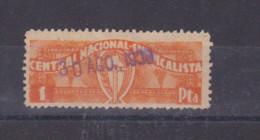 1939 1p Central Nacional Sindicalista,usado ,rara!             #864 - Emisiones Nacionalistas