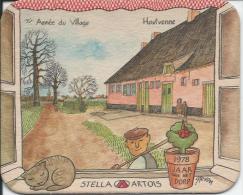 STELLA ARTOIS 1978 JAAR VAN  HET  DORP  HOUTVENNE - Sous-bocks