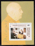 Upper Volta/Burkina Faso Used Scott #C222 Souvenir Sheet 400fr 'Science And Charity' - Pablo Picasso - Upper Volta (1958-1984)