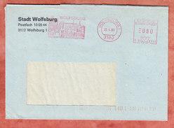Brief, Pitney Bowes E10-8758, Stadt Wolfsburg, 80 Pfg, 1983 (69844) - BRD