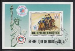 Upper Volta/Burkina Faso Used Scott #C244 Souvenir Sheet 500fr Surrender Of The Hessians - American Bicentennial - Haute-Volta (1958-1984)