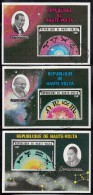 Upper Volta/Burkina Faso Used Scott #C176-#C178 Souvenir Sheets Zodiac Signs Louis Armstrong, Ghandi, Martin Luther King - Haute-Volta (1958-1984)