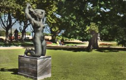 CPSM OUCHY LAUSANNE - STATUE LA BAIGNEUSE - VD Vaud