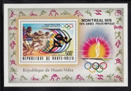 Upper Volta/Burkina Faso MNH Scott #C230 Souvenir Sheet 500fr Sprint - 1976 Summer Olympics Montreal - Haute-Volta (1958-1984)