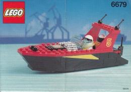 Lego 6679 Hors bord avec plan 100 % Complet voir scan