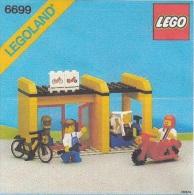 Lego 6699 Magasin de r�paration v�los, motos avec copie couleur du plan 100 % Complet voir scan
