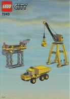Lego 7243 Site de construction avec plan 100 % Complet voir scan