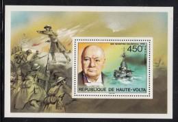Upper Volta/Burkina Faso MNH Scott #351 Souvenir Sheet 450fr Sir Winston Churchill - Haute-Volta (1958-1984)