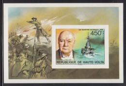 Upper Volta/Burkina Faso MNH Scott #351 Imperf Souvenir Sheet 450fr Sir Winston Churchill - Haute-Volta (1958-1984)