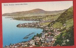 TDI1-01  Territet Montreux Clarens Et Mont Pélerin.  Cachet Montreux 1912 - VD Vaud