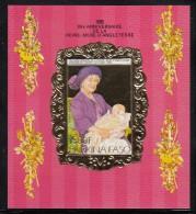 Burkina Faso MNH Scott #707A Imperf Souvenir Sheet 1500fr Christening Of Prince Harry - Queen Mother´s 85th - Burkina Faso (1984-...)