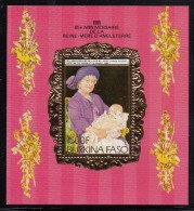 Burkina Faso MNH Scott #707A  Souvenir Sheet 1500fr Christening Of Prince Harry - Queen Mother´s 85th - Burkina Faso (1984-...)