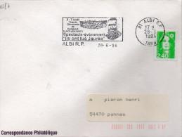 """Flamme Spectacle événement """"Ils Ont Tué Jaures"""" De Albi (Tarn) Du 28/6/2014 Sur Marianne Briat  (YT 2823) - Postmark Collection (Covers)"""