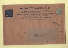 Marque CP - Jardin Chateau Ferme Basse Cour - Engrais Produits Chimiques - Paris  - 15c Semeuse Lignee - Marcophilie (Lettres)