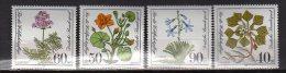 1981 BRD/W.Germany -  Wohlfahrt: Gefährdete Moor-, Sumpfwiesen- Und Wasserpflanzen - 4 V Paper - MNH** Mi 1108/1111 - Heilpflanzen
