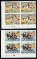 Upper Volta/Burkina Faso MNH Scott 346-#350 Set Of 5 Imperf Lower Left Plate Blocks Sir Winston Churchill - Haute-Volta (1958-1984)