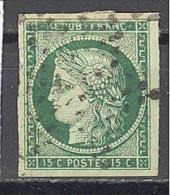 France: Yvert N° 2°; Cote 1000.00€; Superbe; 4 Belles Marges; Réparé En Haut; Voir Scan - 1849-1850 Cérès