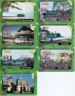 USED PHONE CARDS COSTA RICA 7V
