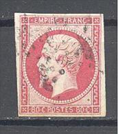 France: Yvert N° 17B°; Cote 55.00; 4 Marges; Voir Scan - 1853-1860 Napoleone III