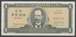 1986-BK-9 CUBA. 1$. 1986. JOSE MARTI. BILLETE DE REEMPLAZO.  REPLACEMENT. SERIE DAX. XF. - Cuba