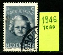 OLANDA - NEDERLAND - Year 1945 - 1.5 Cent - Usato -used.. - Periodo 1891 – 1948 (Wilhelmina)