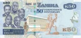 ZAMBIA P. NEW  50 K 2014 UNC - Zambie