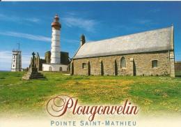 29. CPM. Finistère. Plougonvelin. Pointe Saint-Mathieu, La Chapelle Saint-Jean, Le Phare, Les Ruines De L'abbaye - Plougonvelin