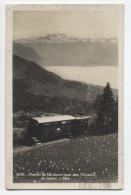 SWITZERLAND ~ RPPC Mountain Rail Line BLONAY Electric Train Car 1928 Photo Postcard - VD Vaud