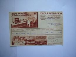 Anciennes Quittantes  D´électricité De 1938  Illustrées - Factures & Documents Commerciaux