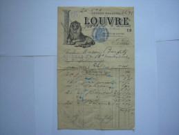France :Facture  ,Grands Magasins Du LOUVRE  Paris  En 1911 - Textile & Vestimentaire