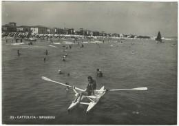"""1951 Rimini - """"Cattolica - Lungomare E Spiaggia - Rimini"""