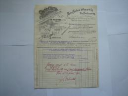 France :Facture  , Manufacture D'Appareils Perfectionnés  En 1921 - France
