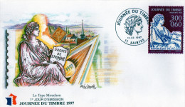 Lettre 1er Jour Journee Du Timbre 17 Saintes (1997) - France