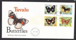 Tuvalu 1981 Butterflies FDC - Tuvalu