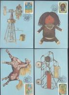 Ciskei 1987 Home Made Toys, 4 Stamped Maxim Cards) Special ZWELITSHA C.d.s. - Ciskei