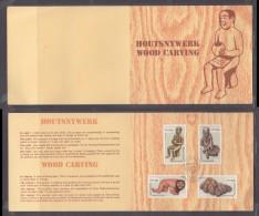 Venda 1980 Wood Carving Collectors Sheet 1./2a Special TSHAKHUMA Cancel. - Venda