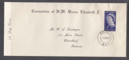 South Africa 1953 Elizabeth II Coronation Privtae FDC, PRETORI 3 JUN 53, C.d.s. - FDC