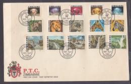 Zimbabwe 1980 1st Definitive Set, SALISBURY FIRST DAY C.d.s. - Zimbabwe (1980-...)