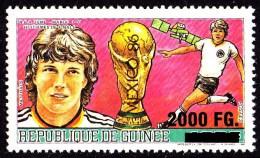 Guinea. 2009. Football. Soccer. World Cup 1986. MATTHAUS. OVERPRINT SURCHARGE. MNH** RARE - World Cup