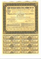 Crédit Foncier Du Brésil Et De L´Amérique Du Sud Obligation De 350 F - Banque & Assurance