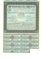 Crédit Foncier Du Brésil Et De L´Amérique Du Sud Bon De 250 F - Banque & Assurance