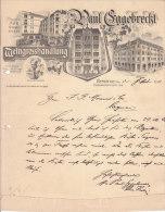 BERLIN  PAUL EGGEBRECHT  .- Weingrosshandlung - Deutschland