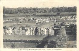 62 - LE TOUQUET PARIS PLAGE - Pas De Calais - Au Tennis - Pendant Un Championnat - Le Touquet