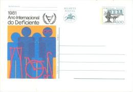 PORTUGAL  -   MNH/*** -  BILHETE POSTAL POSTCARD ENTIER POSTAL STATIONARY DEFICIENTE 7$00  - Lot 10891 - Postal Stationery
